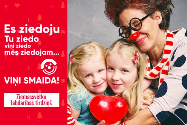 Dakteru Klaunu Ziemassvētku labdarības tirdziņš šogad notiek online